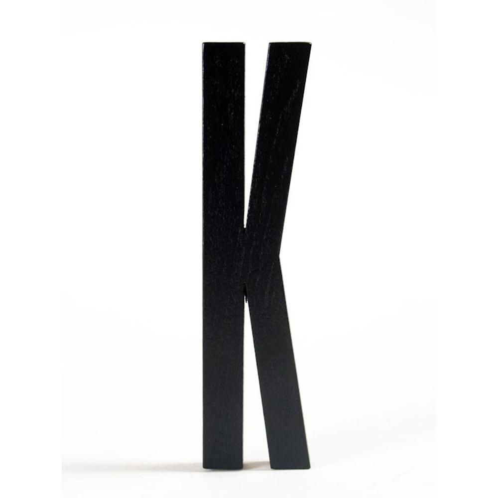 Design Letters Design Letters, Svart Bokstav i Trä, K
