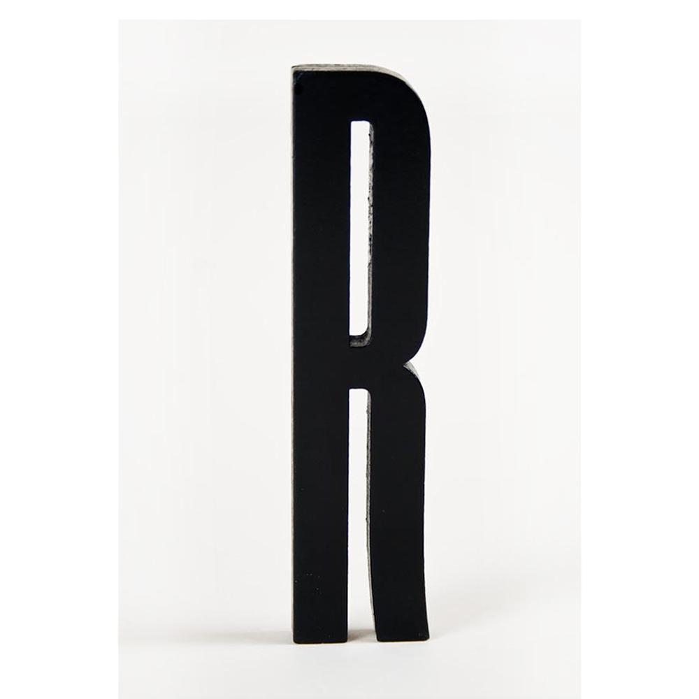 Design Letters Design Letters, Svart Bokstav i Trä, R