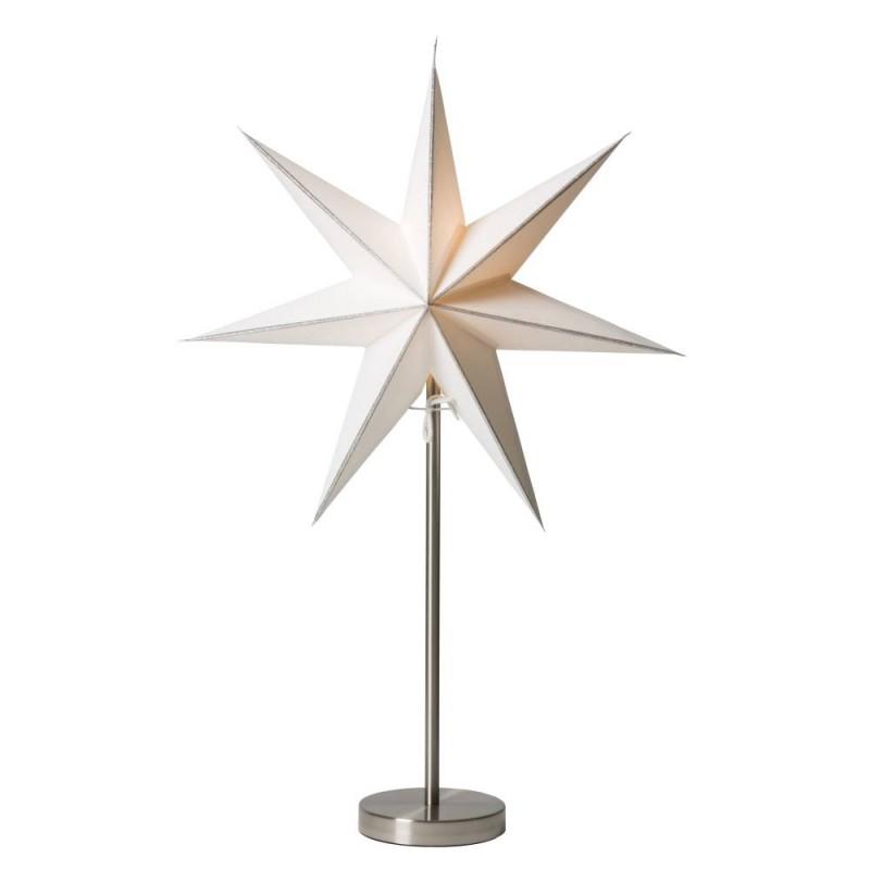 Linje julstjärna med fot 44 silver/krom