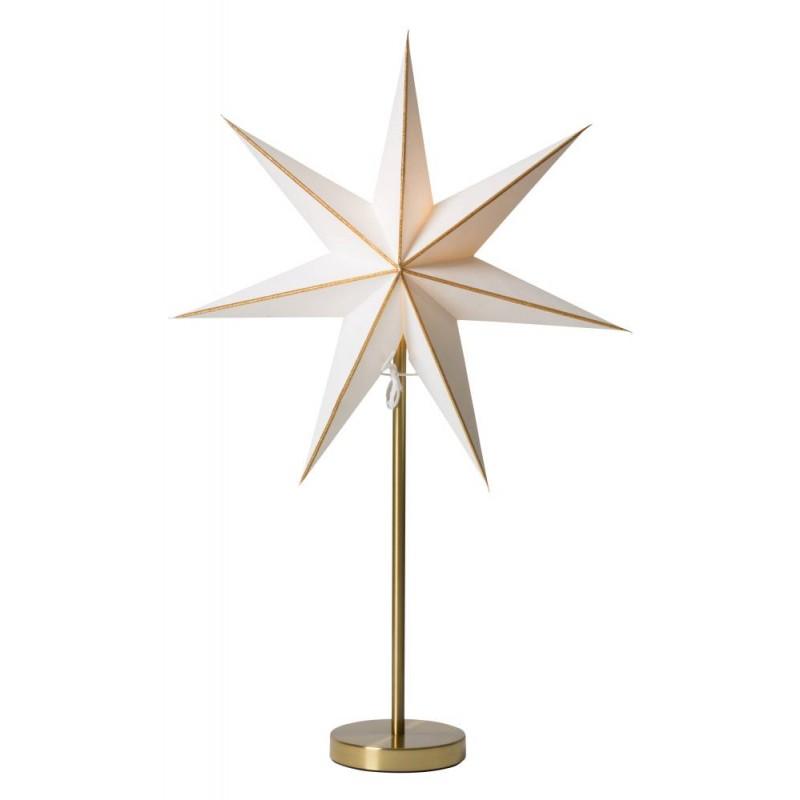 Linje julstjärna med fot 44 guld