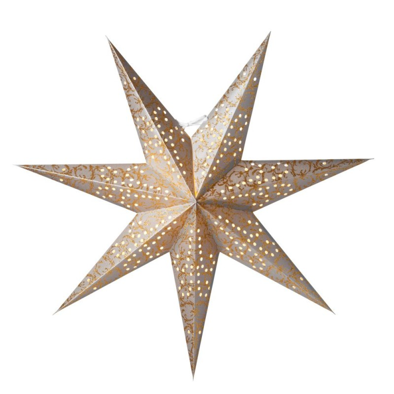 Ludwig Julstjärna 60cm Silver/Guld