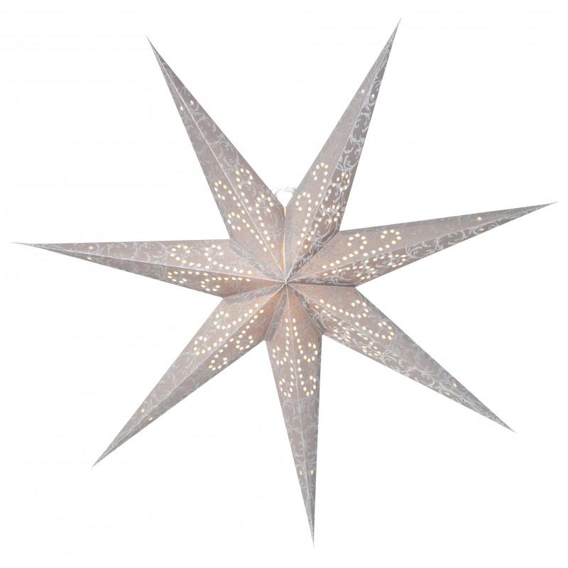 Ludwig Julstjärna 80cm Silver