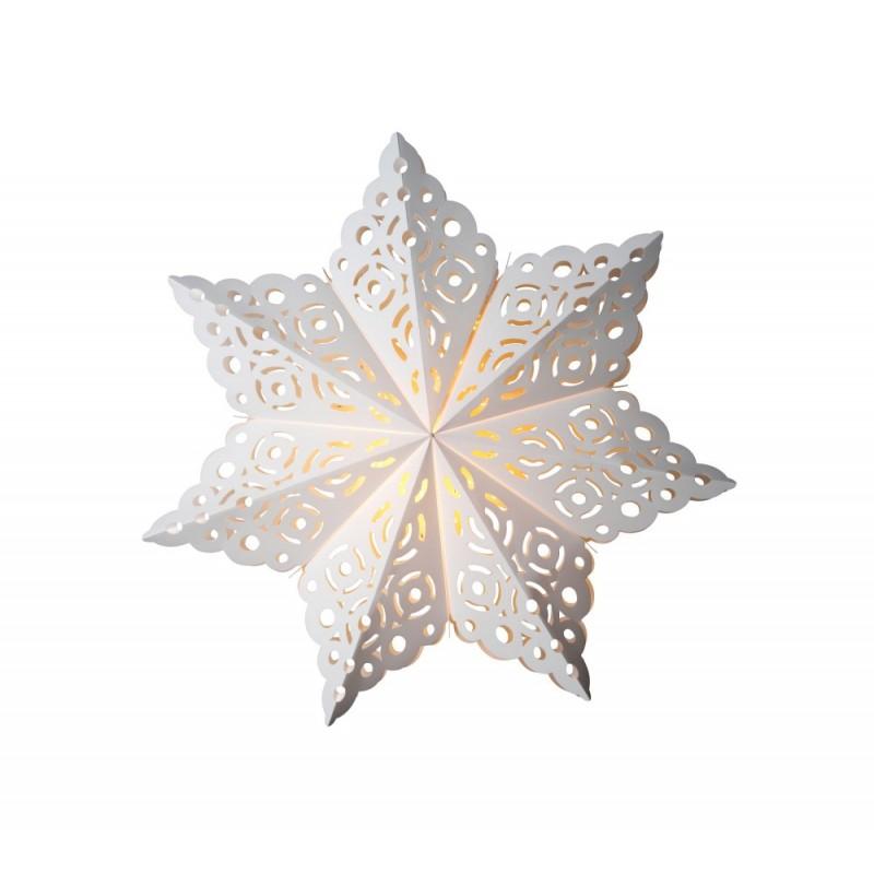 Snöflinga Julstjärna 64cm Vit