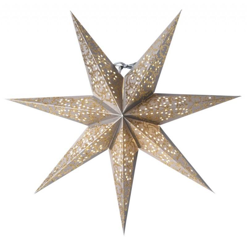 Ludwig Julstjärna 44cm Silver/Guld