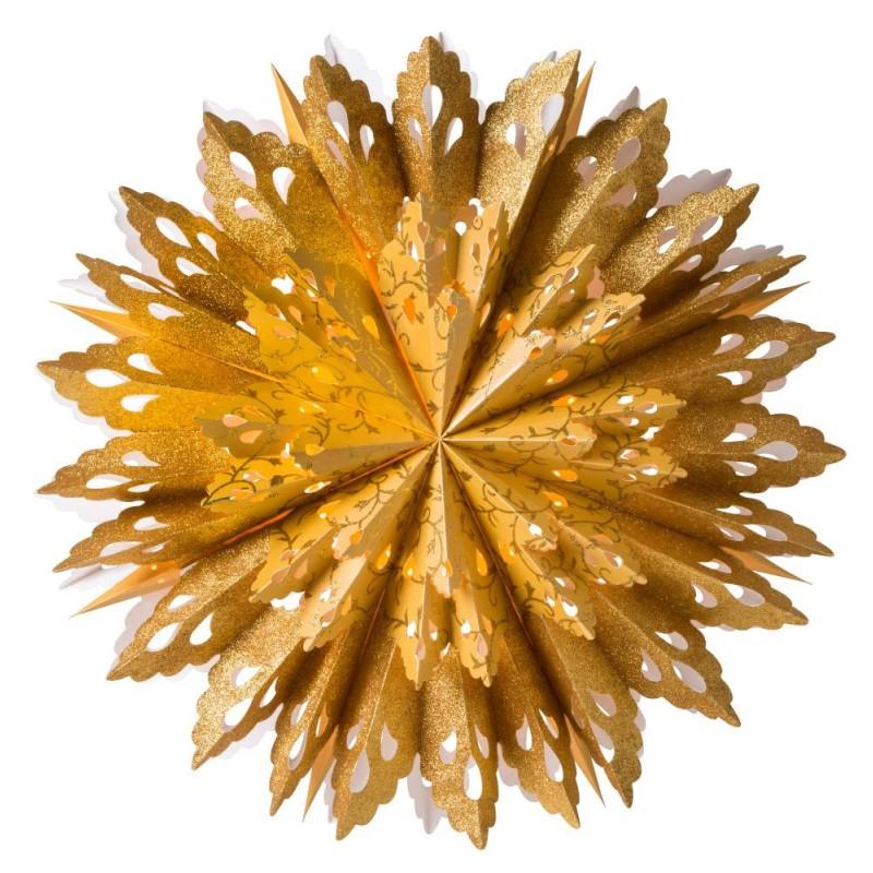 Grace adventsstjärna 60 guld