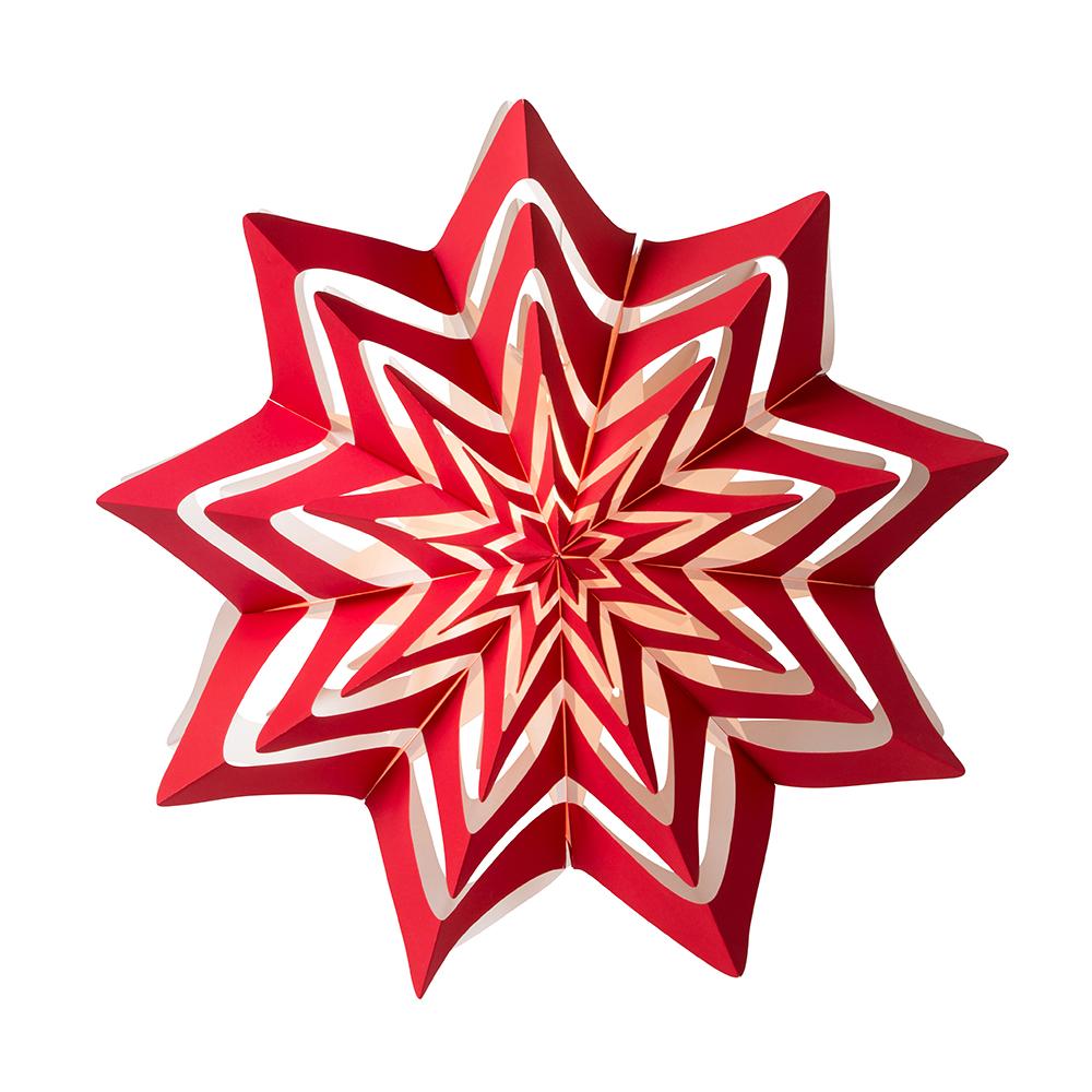 Storm Julstjärna 60cm Röd
