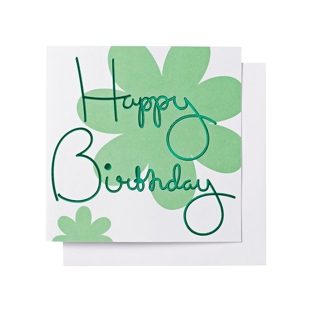 Ordning & Reda O&R Gratulationskort Födelsedag 14,8x14,8 cm, Grön