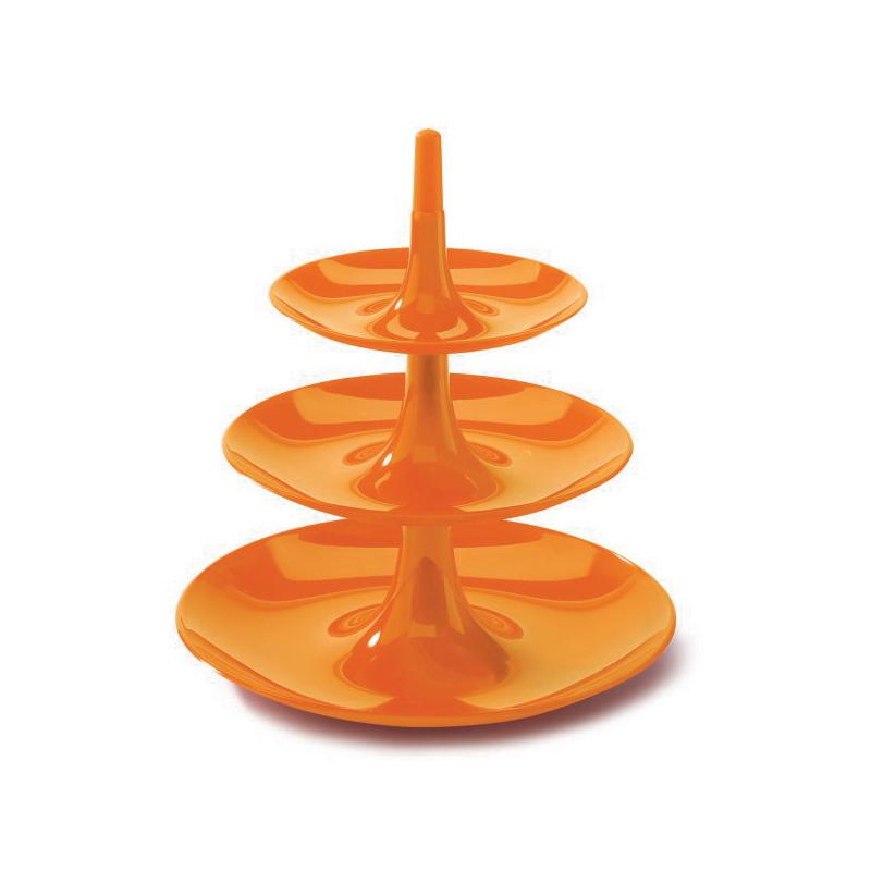 Babell L 3-våningsfat Orange