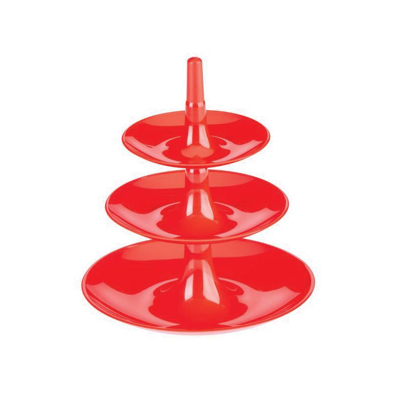 Babell XS 3-våningsfat Röd