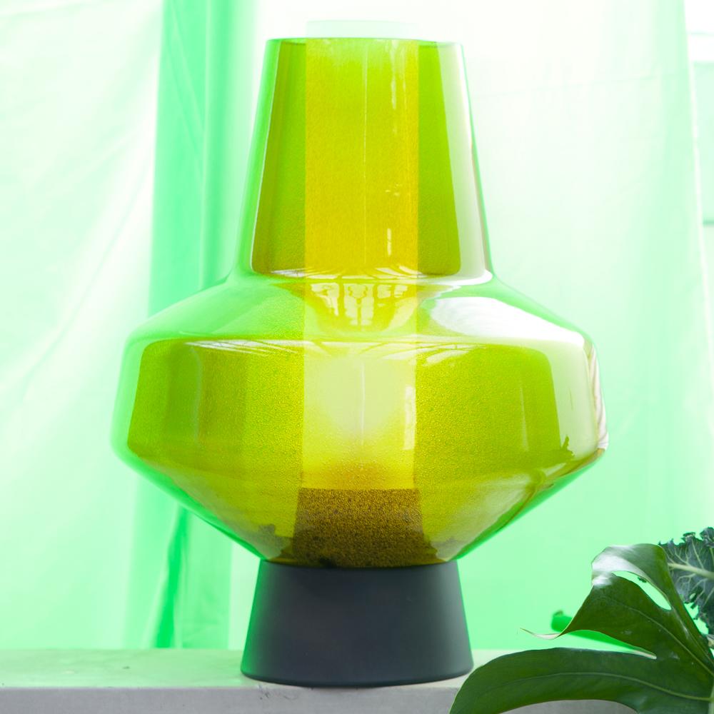 Metal Glass Bordslampa Grön