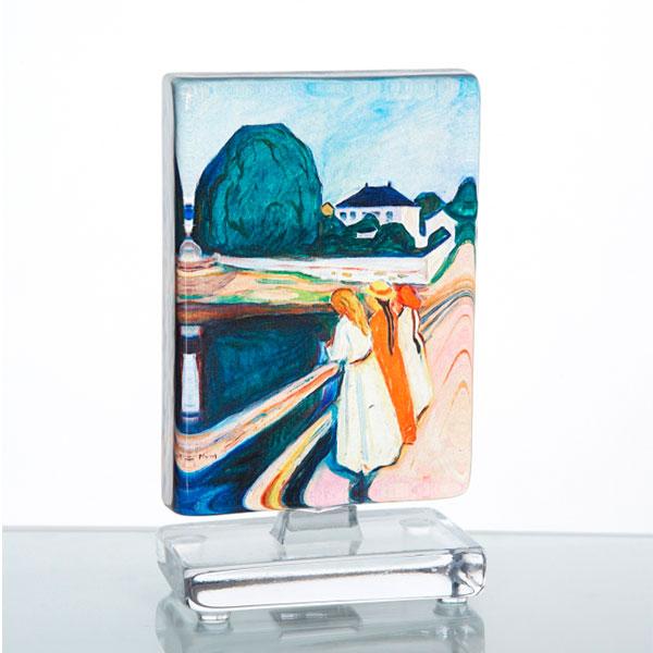 Munch Flickorna På Bron 14x10cm