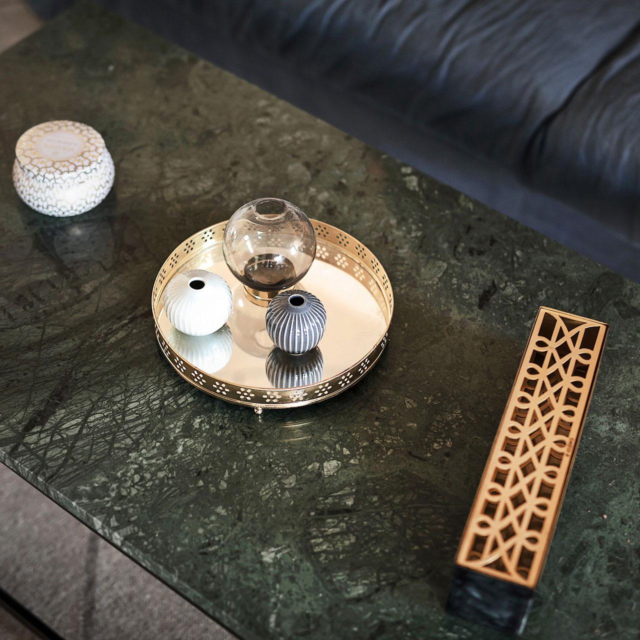 Äng Vas Rektangulär, Mässing, Klong
