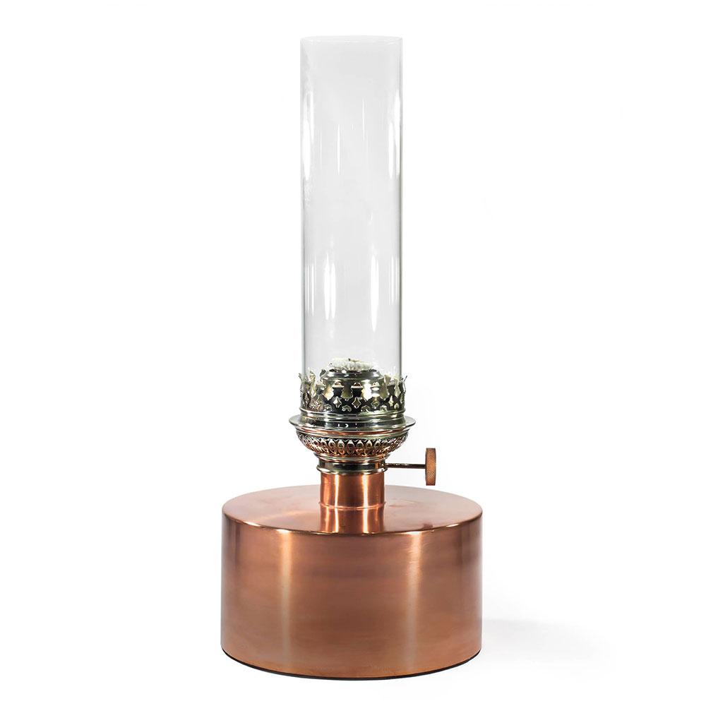 Patina Oljelampa Stor Koppar/Klart Glas
