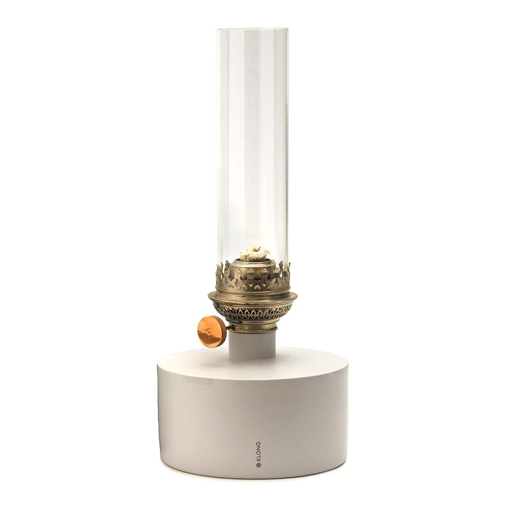 Patina Oljelampa Stor Ljusgrå/Klart Glas