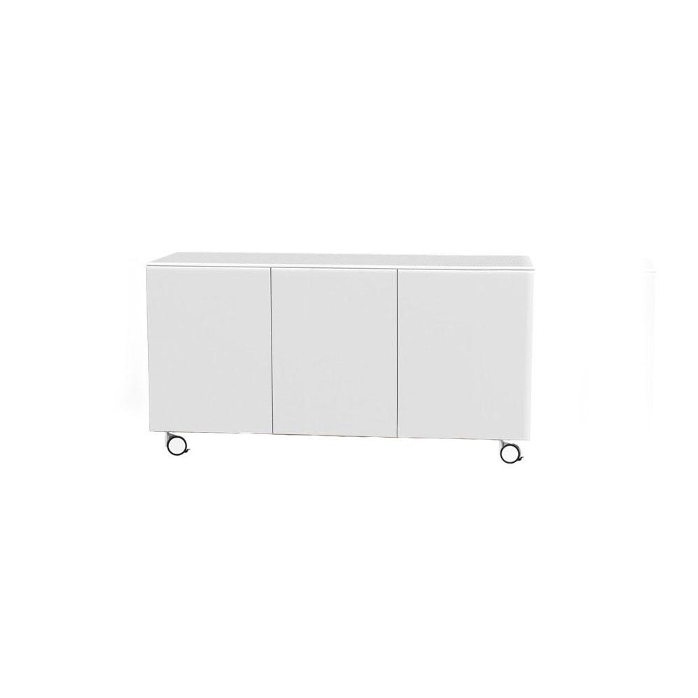 Arctic 40 Sideboard 3D, Vit Blank/Hjul