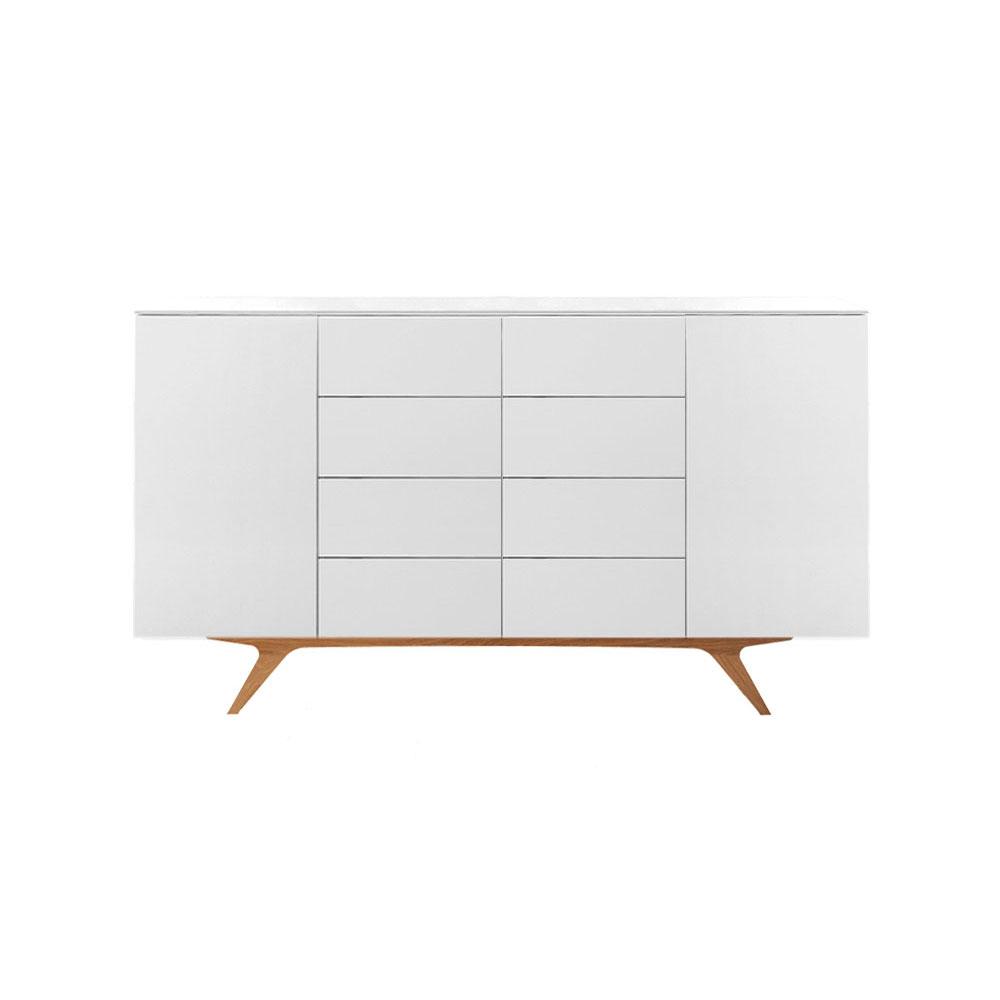 Arctic 40 Sideboard 2D & 8L Vit/Ekben