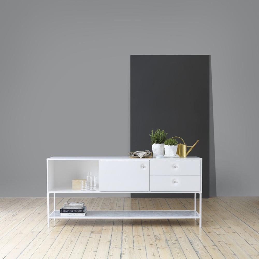 Viti Sideboard Vit/Vit/Krom/Carrara