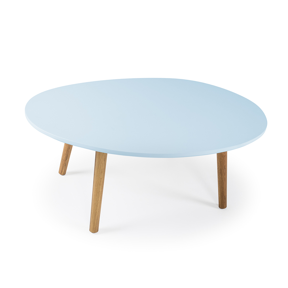 Ray Soffbord 40 cm, Ljusblå/Ek, Department
