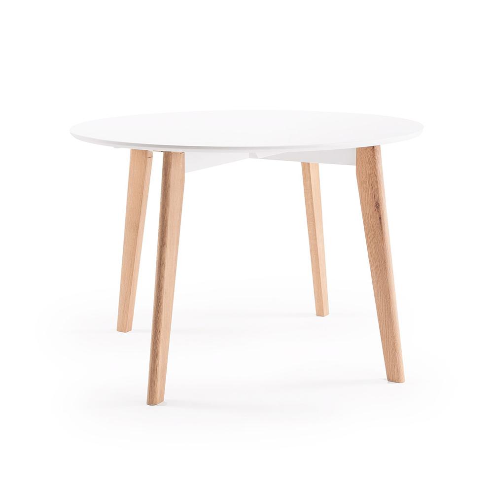 Look Matbord Ø 110 cm, Vit/Ek, Department