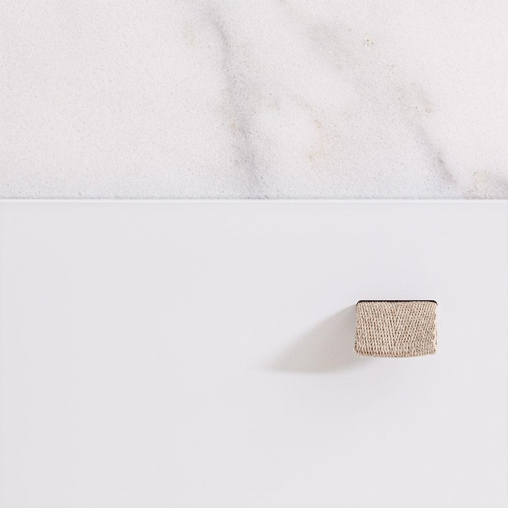 Loft Byrå TE3, Vit/Vit Marmor, Decotique