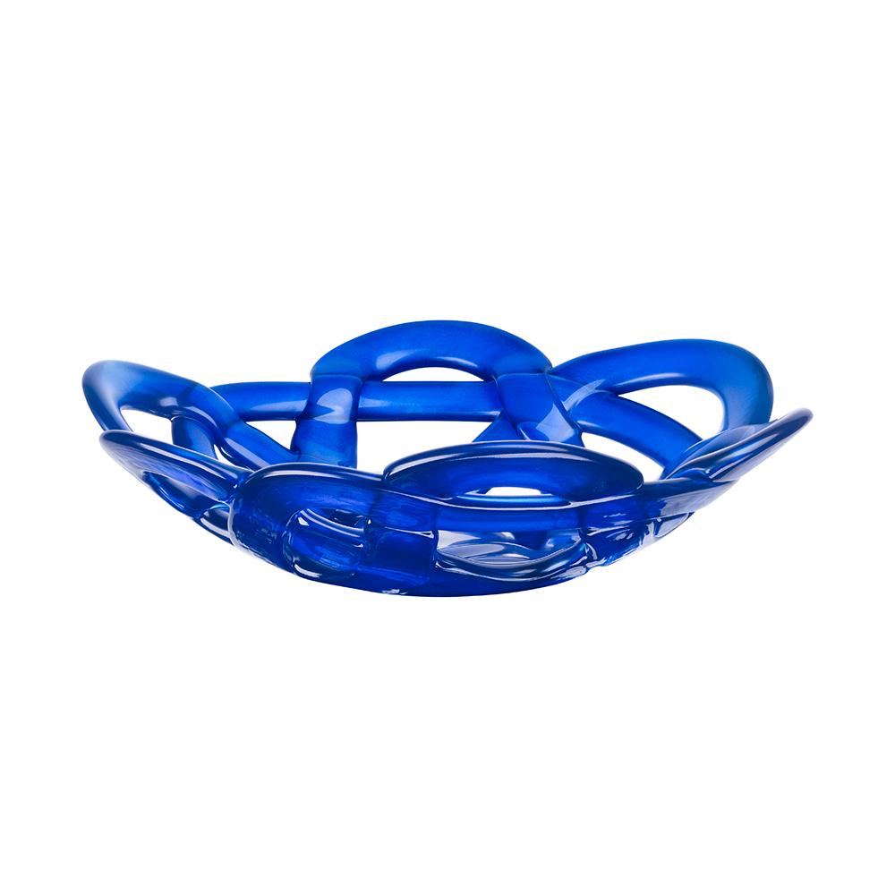 Basket Skål Liten Blå