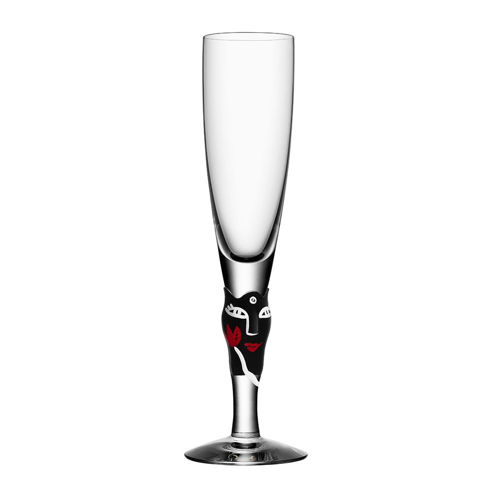 Open Minds Champagneglas Svart