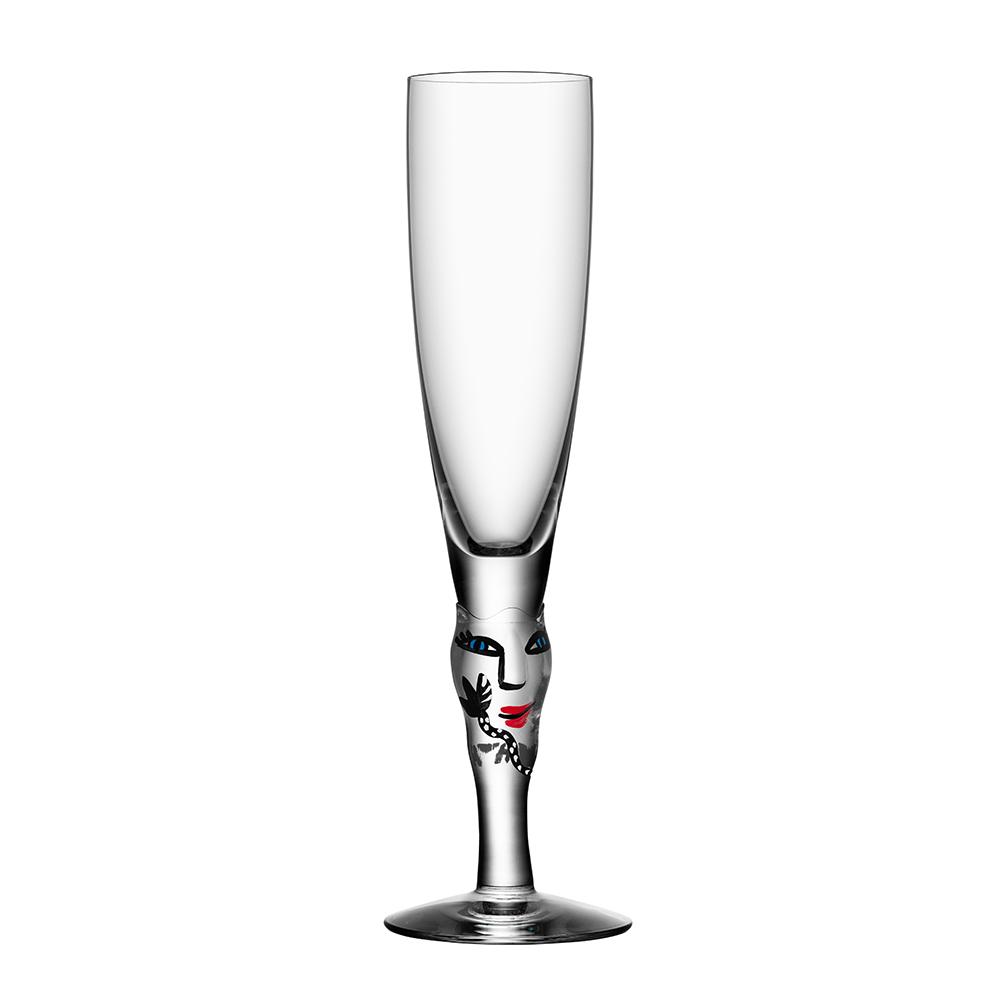 Open Minds Champagneglas Klar