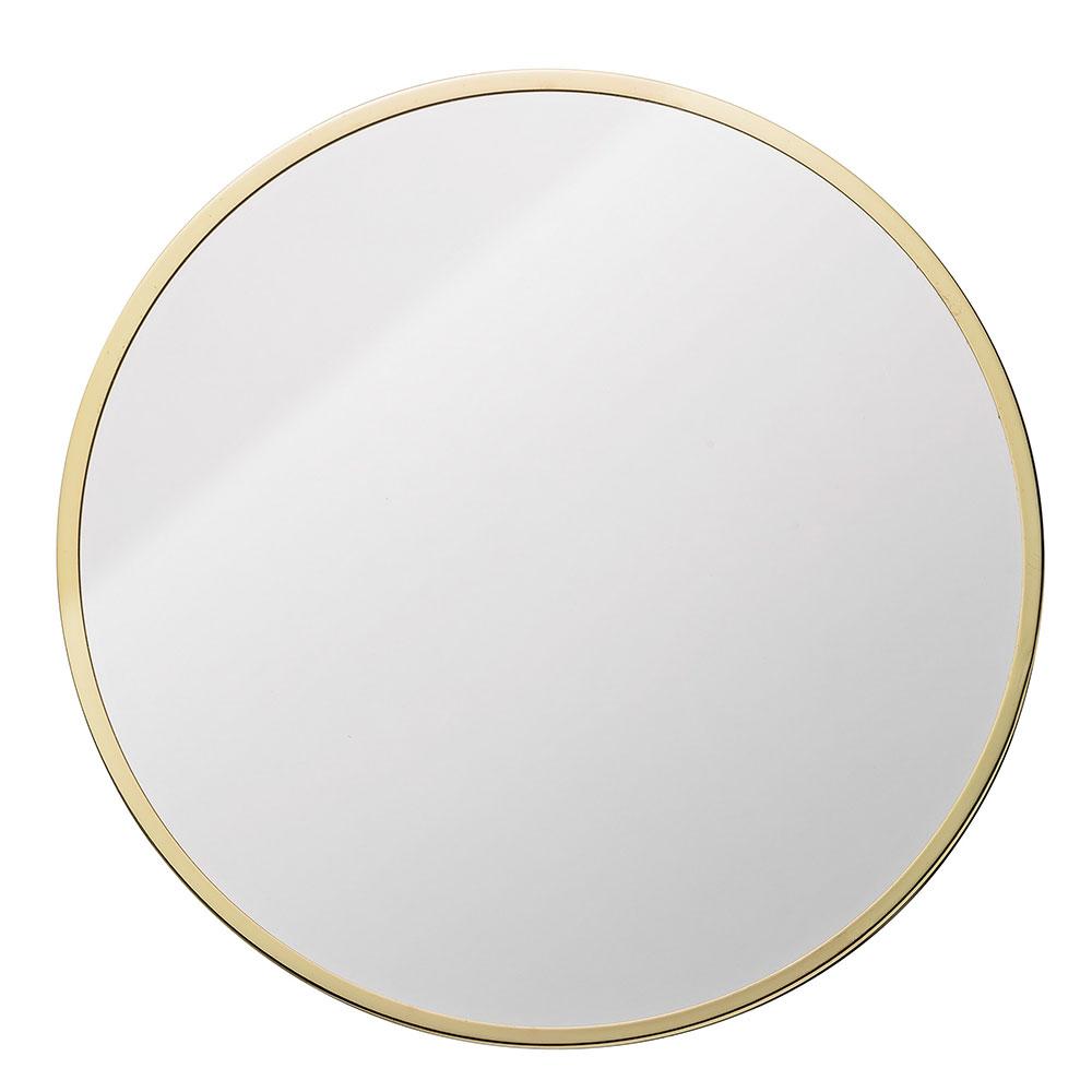 metalframe spegel rund guld bloomingville. Black Bedroom Furniture Sets. Home Design Ideas