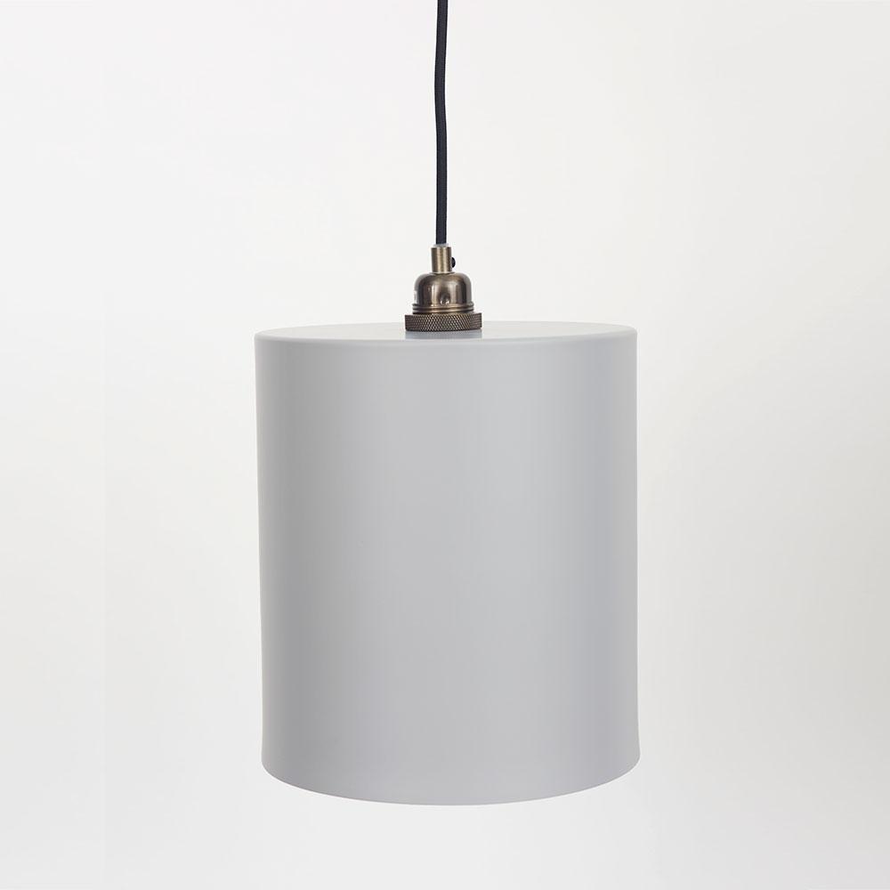 Cylinder Lampskärm Stor Grå