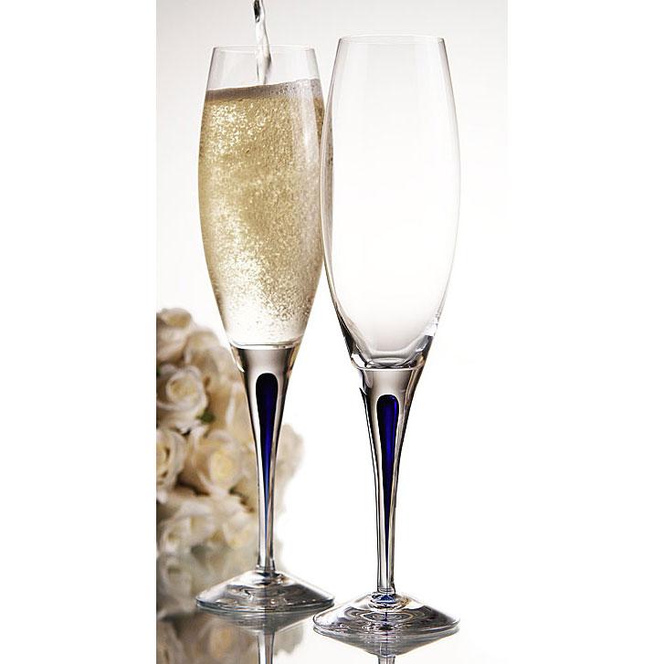Intermezzo Blå Champagneglas 26 cl, Orrefors