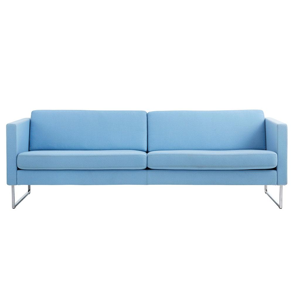 Madison 3-Sits Soffa Utan Knappar Blå