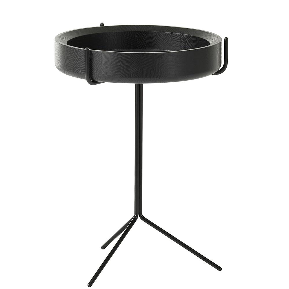 Drum Sidobord 46cm Svart/Svart