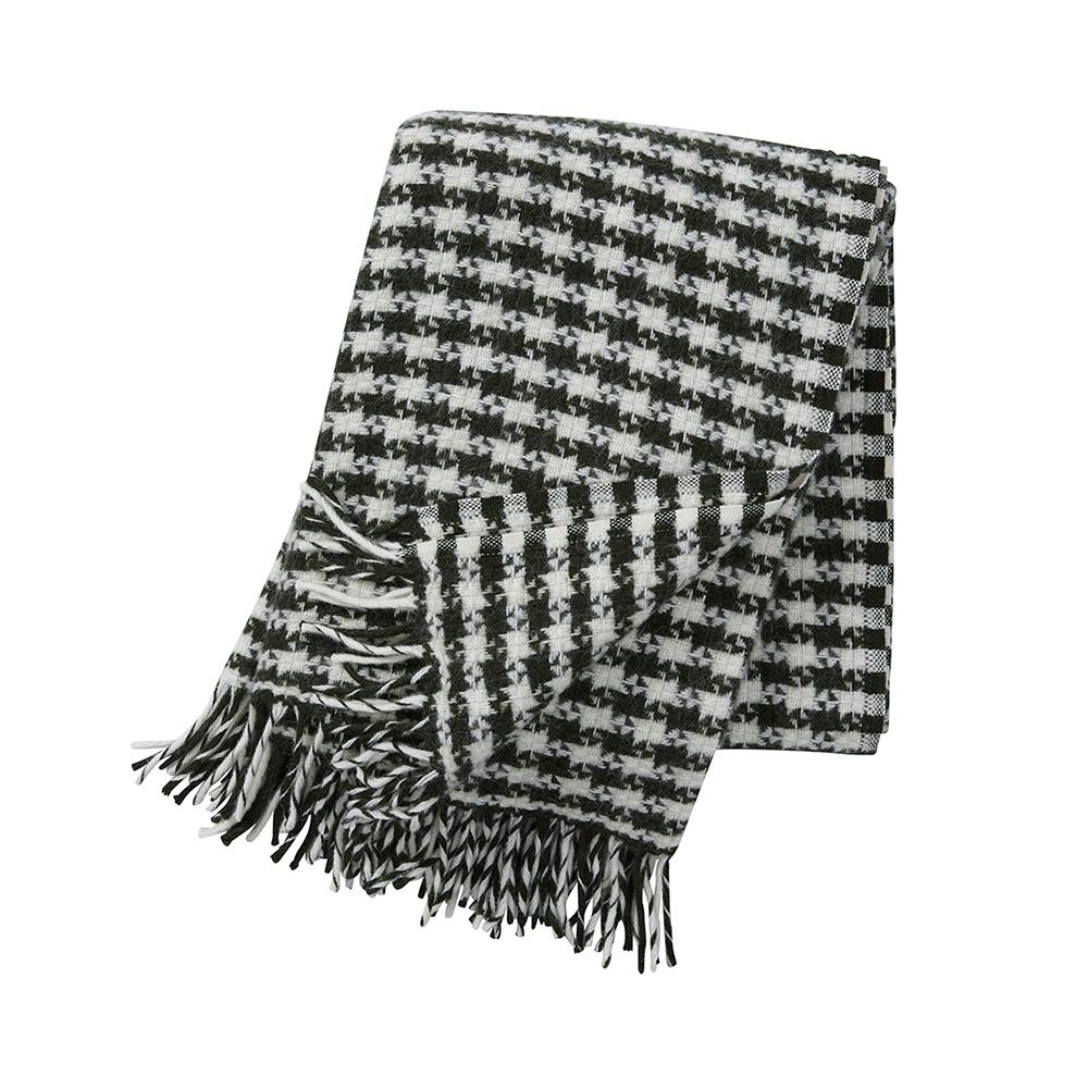 Tweed Ullpläd 130×200 cm Mörkgrön