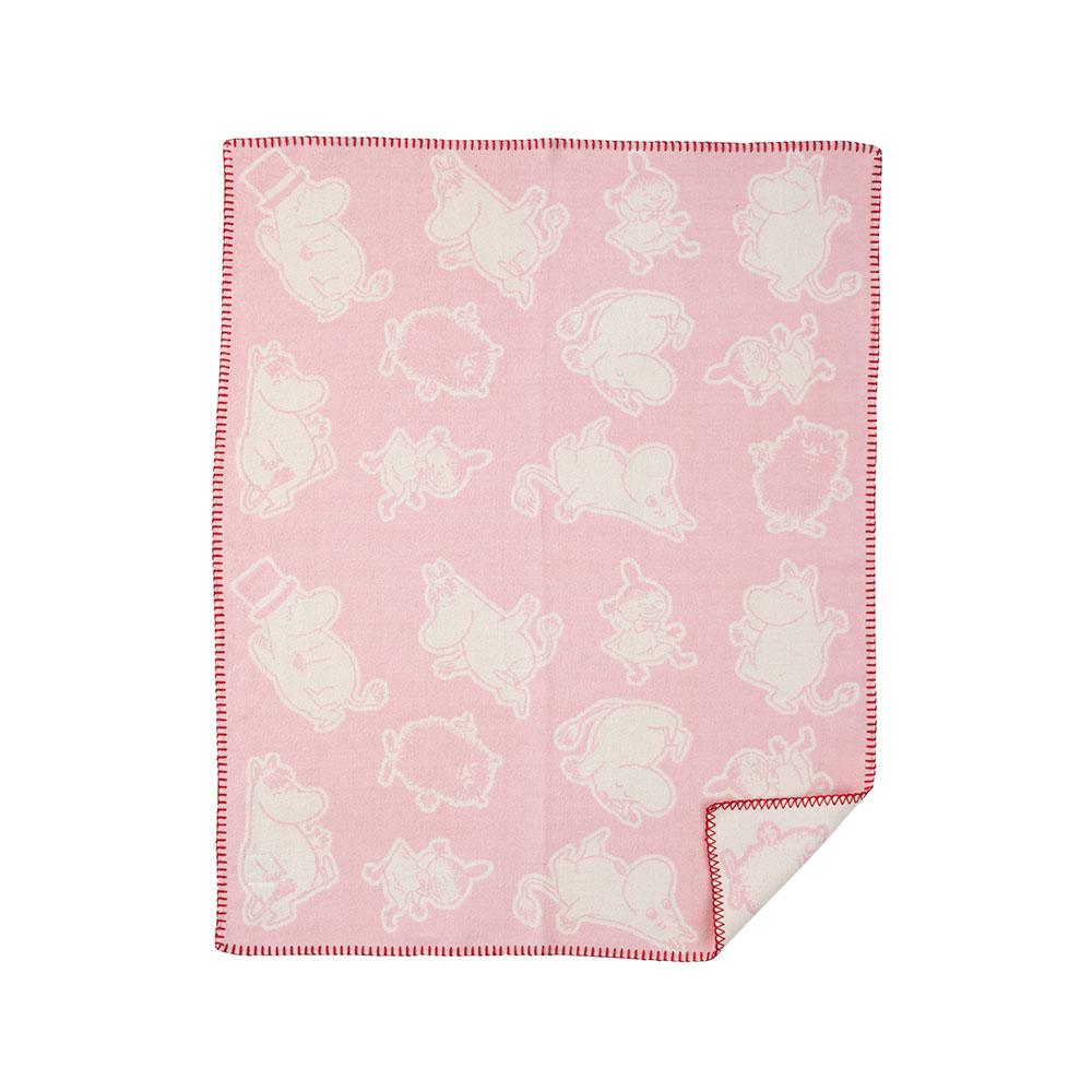 Moomin Bomullsfilt 70x90cm Rosa