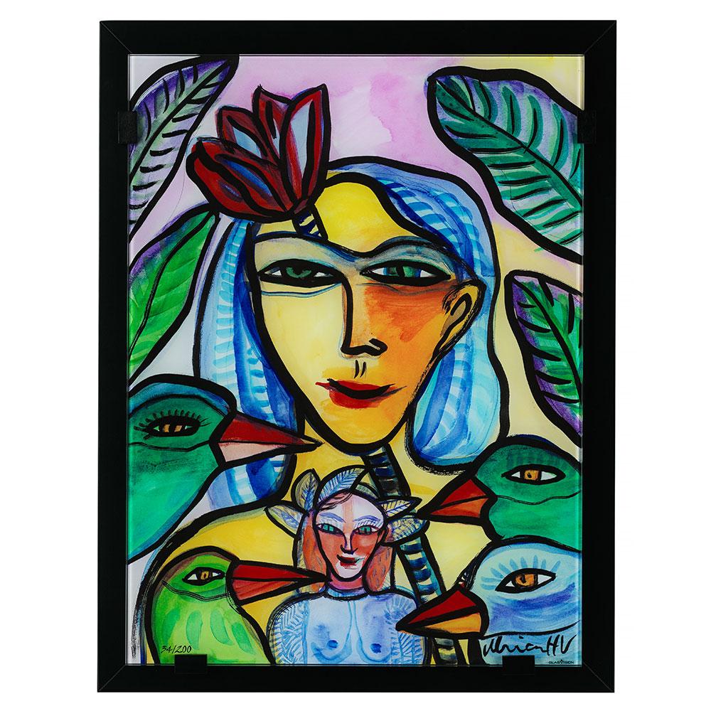 Moder Och Lycka Glastavla Ltd