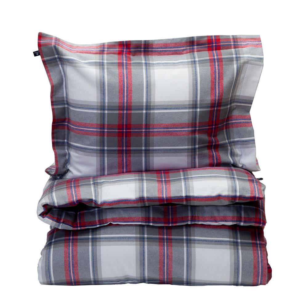 Flannel Tartan Påslakan 220×220 cm, Röd