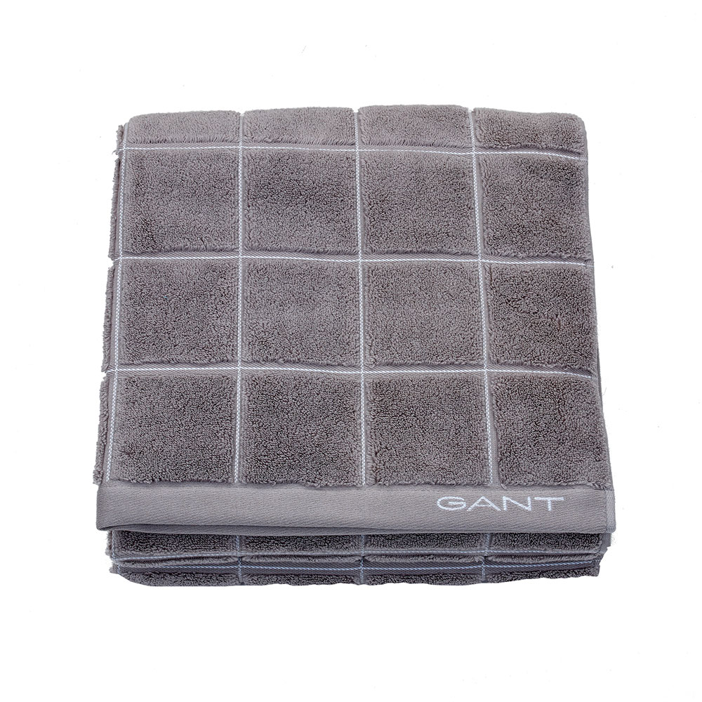 Window Check Handduk 50x30cm, Sheep Grey, Gant Home