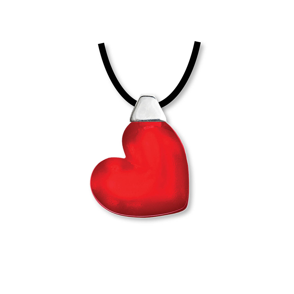 Hjärt Halsband Röd