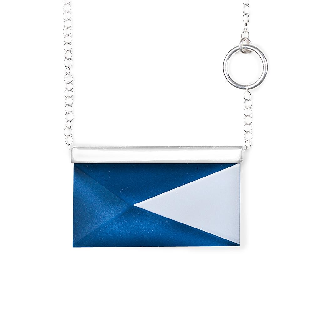 Spektra Halsband Rektangulär Blå