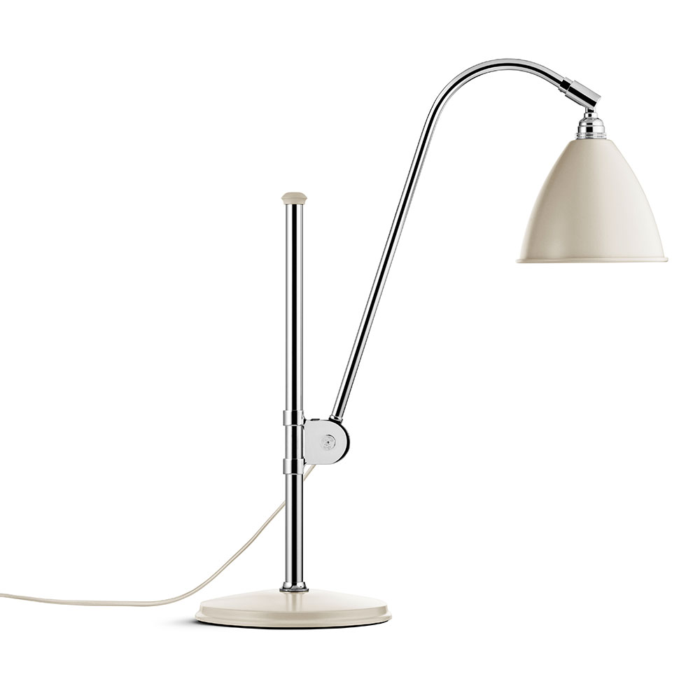 Bestlite BL1 Bordslampa, Krom/Off-White