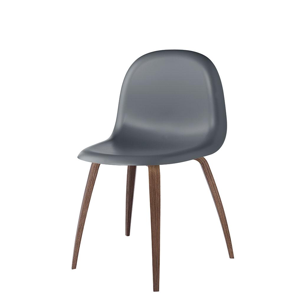 Gubi 5 Stol H45cm, Valnöt/Mörkgrå