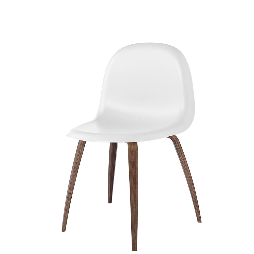 Gubi 5 Stol H45cm, Valnöt/Vit