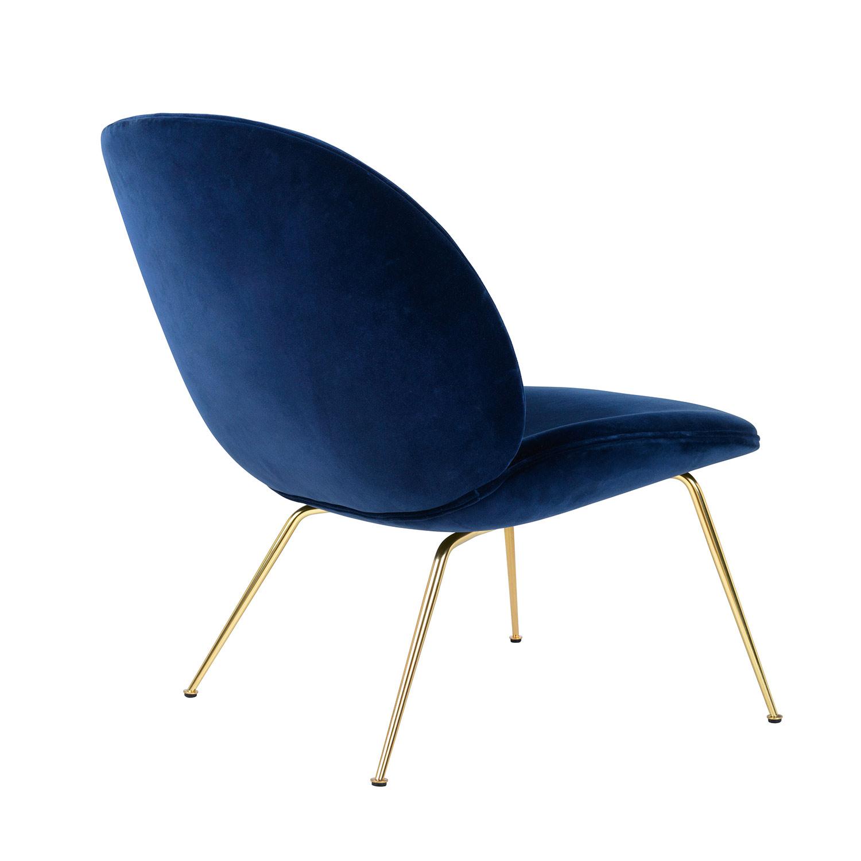 Beetle Lounge Chair, Mässing/ Velluto Cotone 420, Gubi