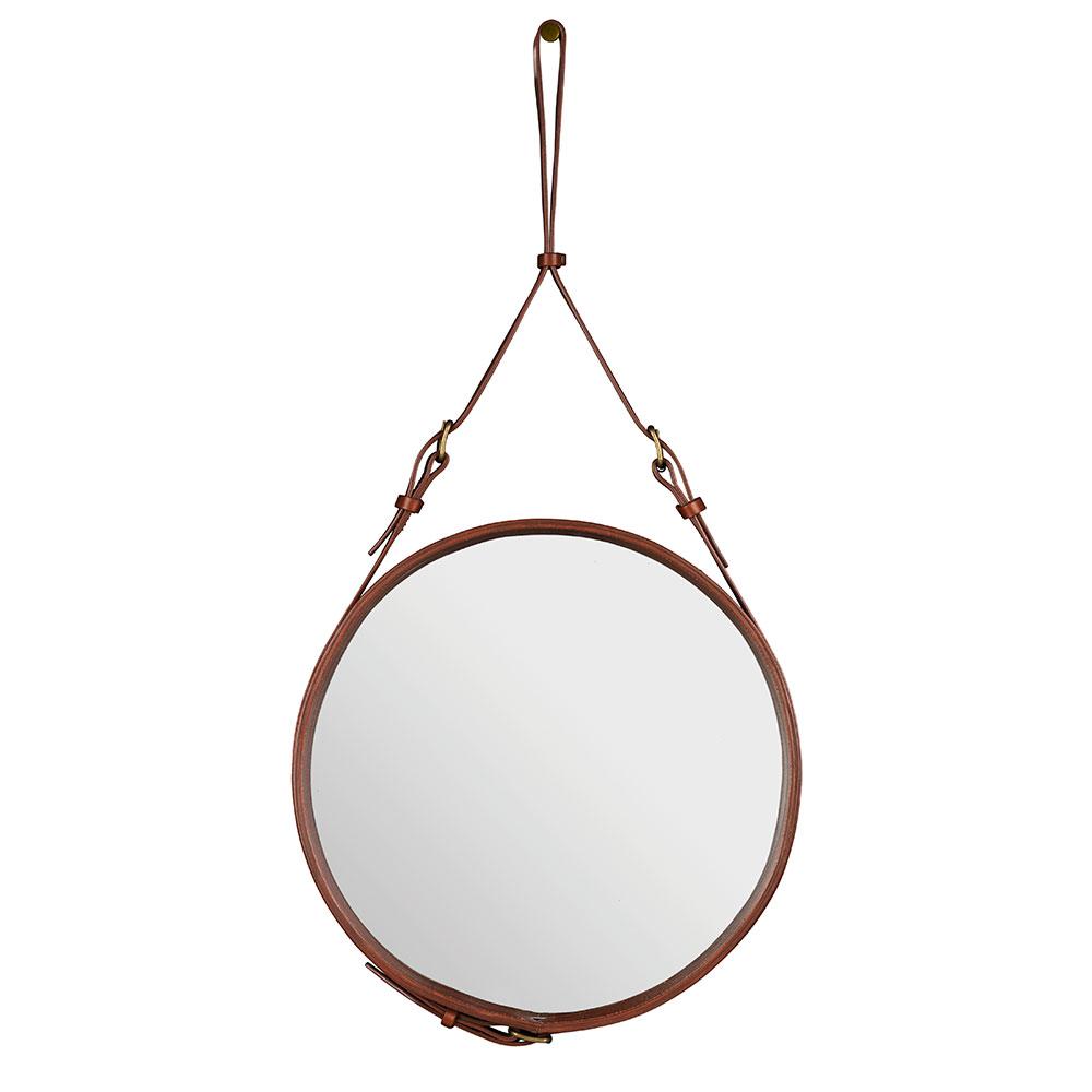 Adnet Spegel Rund 45cm Brun