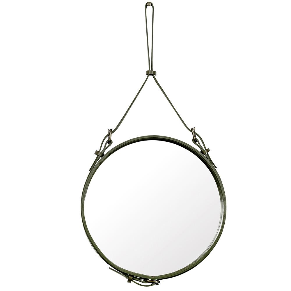 Adnet Spegel Rund 45cm Olive