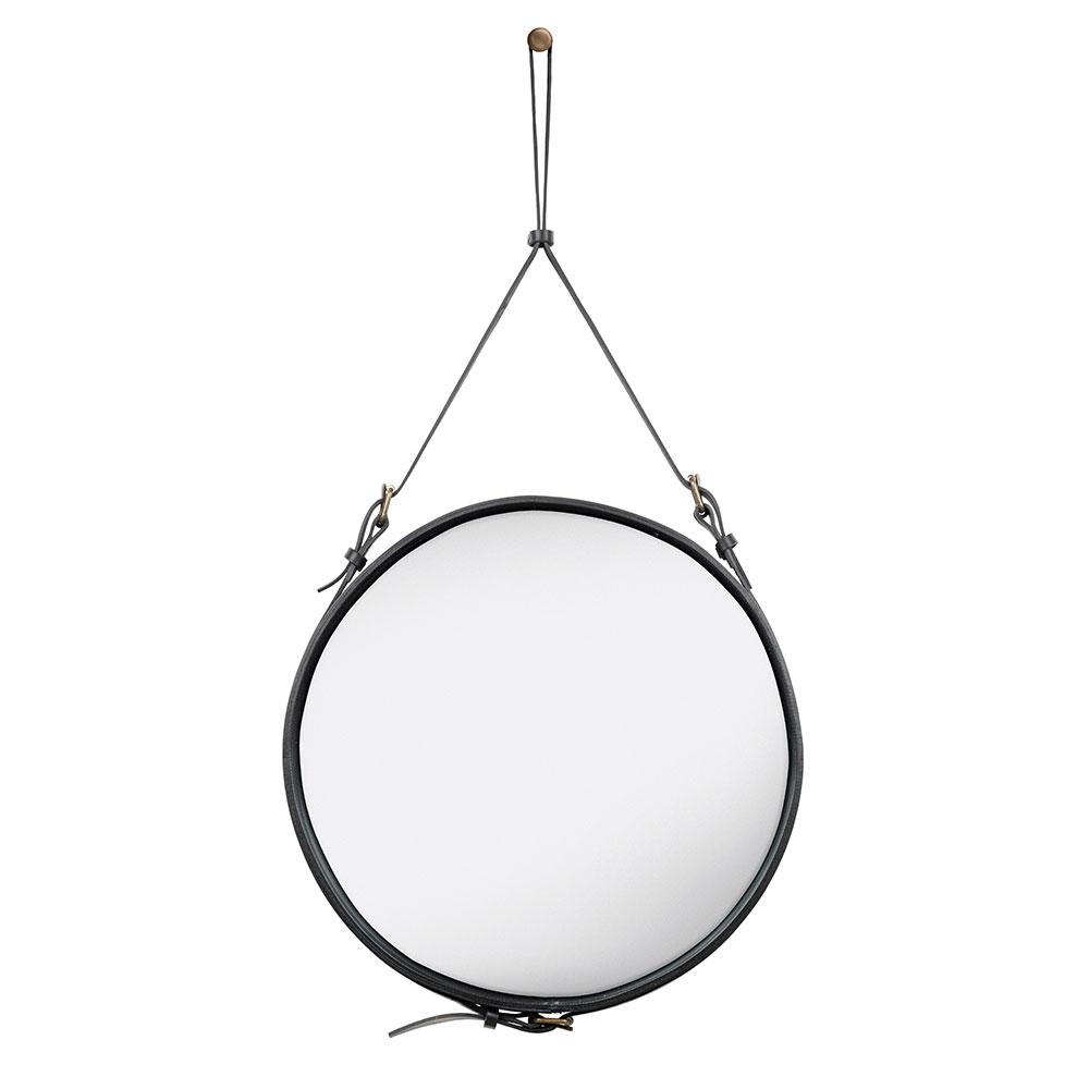 Adnet Spegel Rund 58cm Svart
