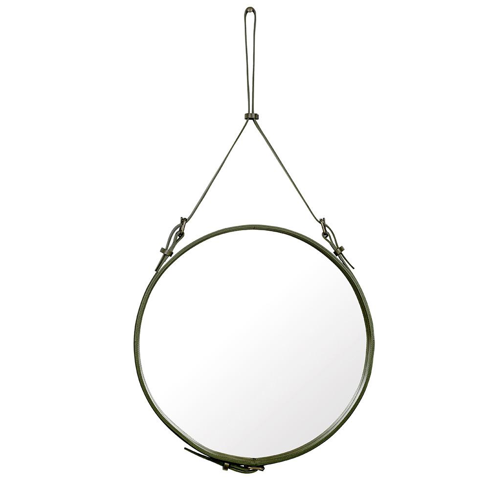 Adnet Spegel Rund 58cm Olive