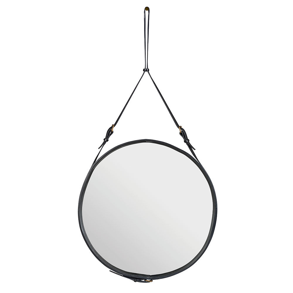 Adnet Spegel Rund 70cm Svart