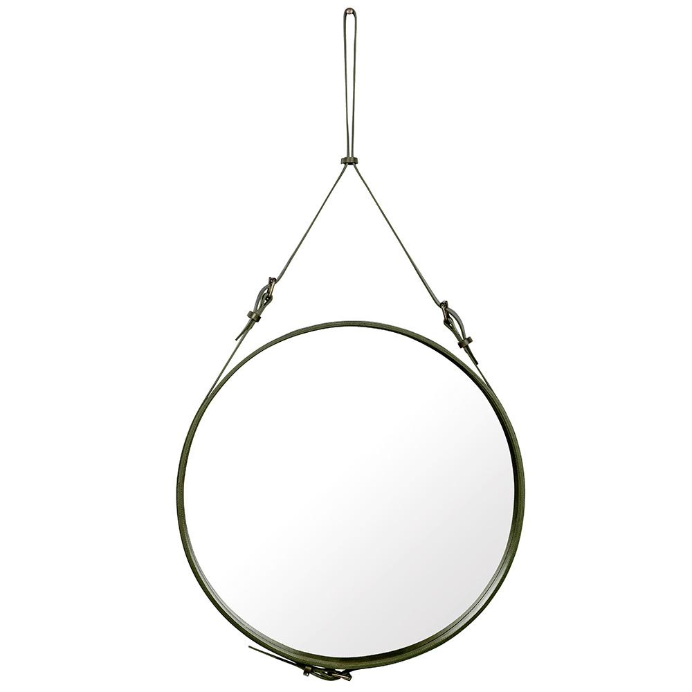 Adnet Spegel Rund 70cm Olive