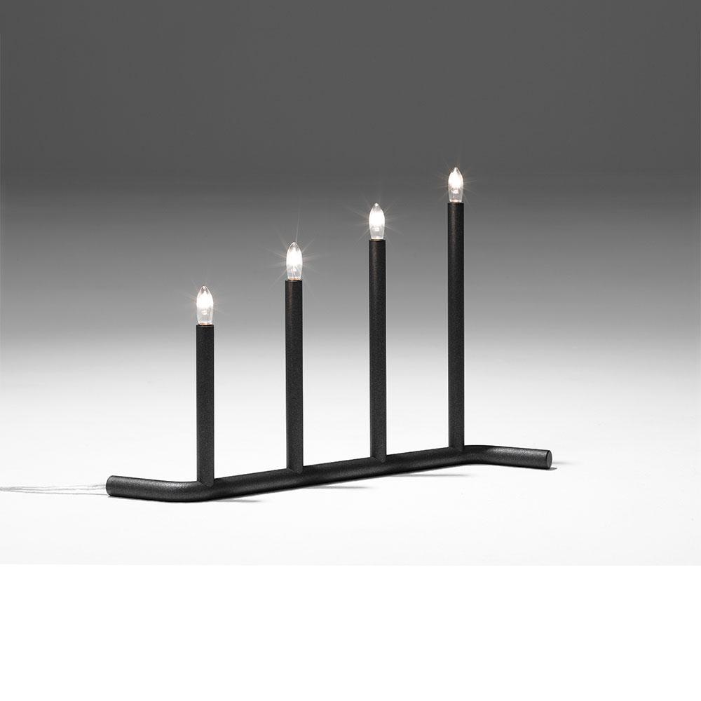 Adventsljusstake 4, Grå Stina Sandwall SMD Design RoyalDesign se